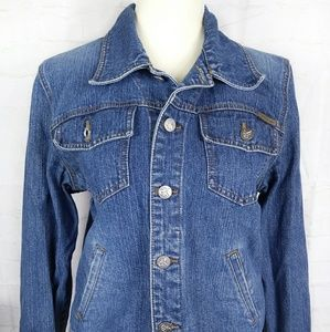 Calvin Klein Jeans Denim Jacket Jean Sz M 90s Cute